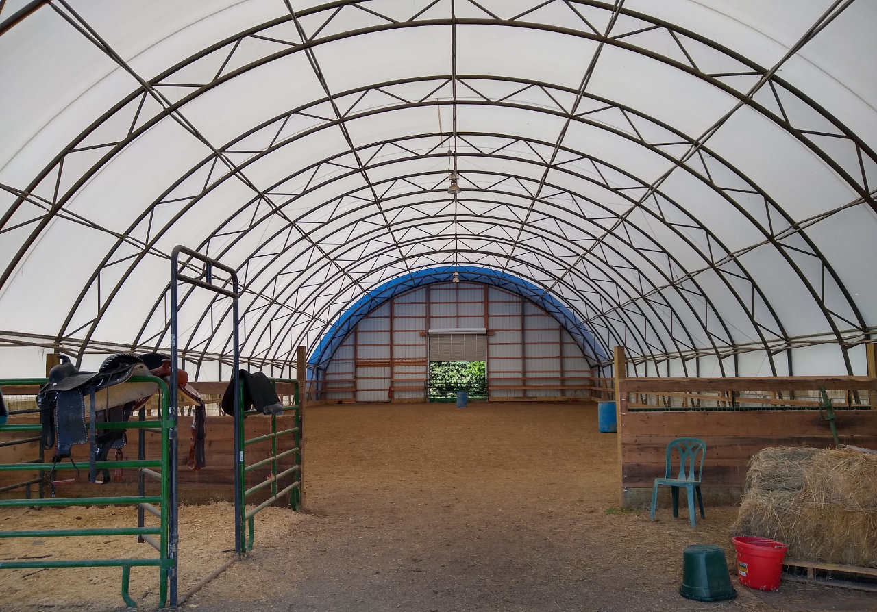 Inside the horse arena