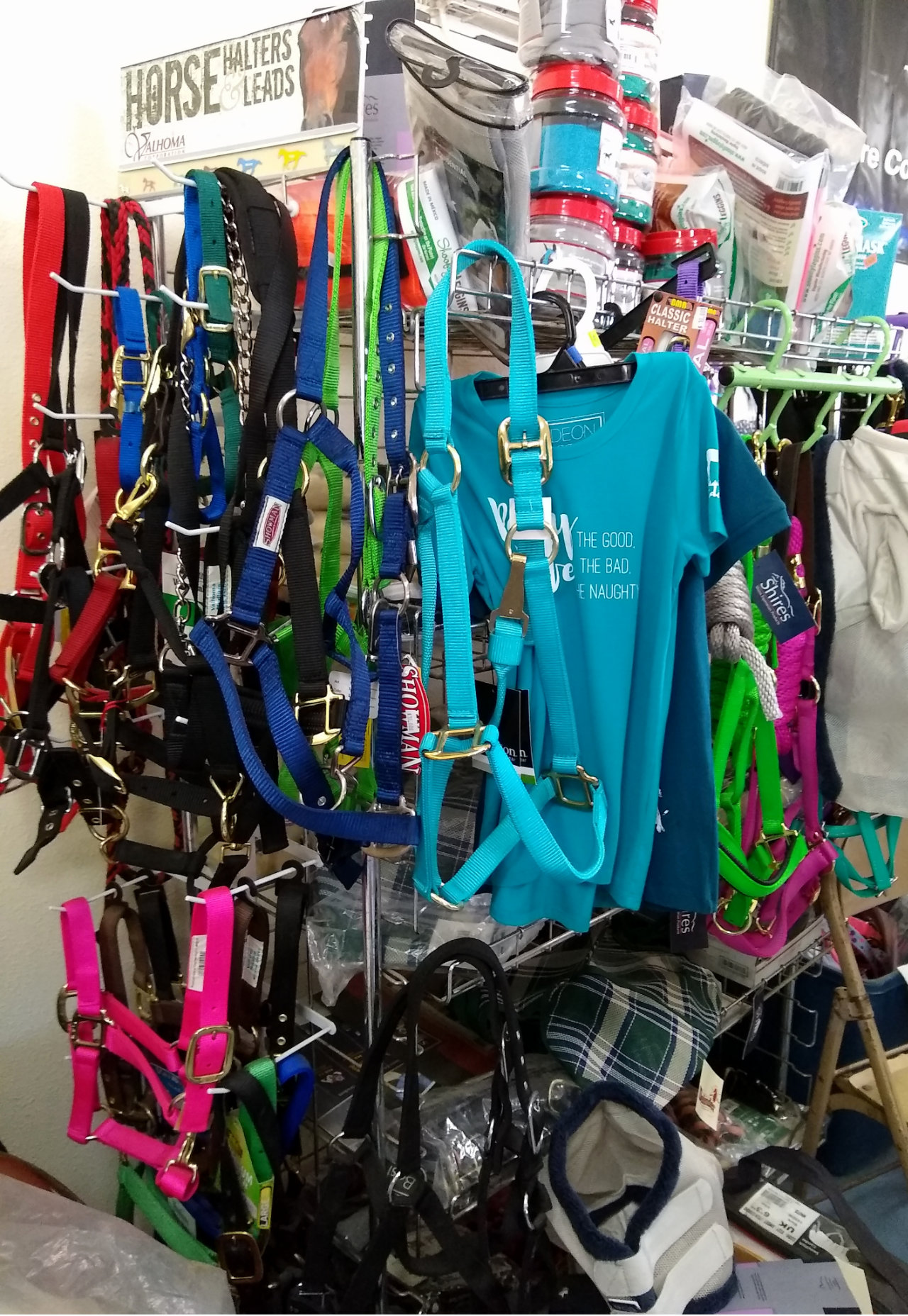 Colorful halters