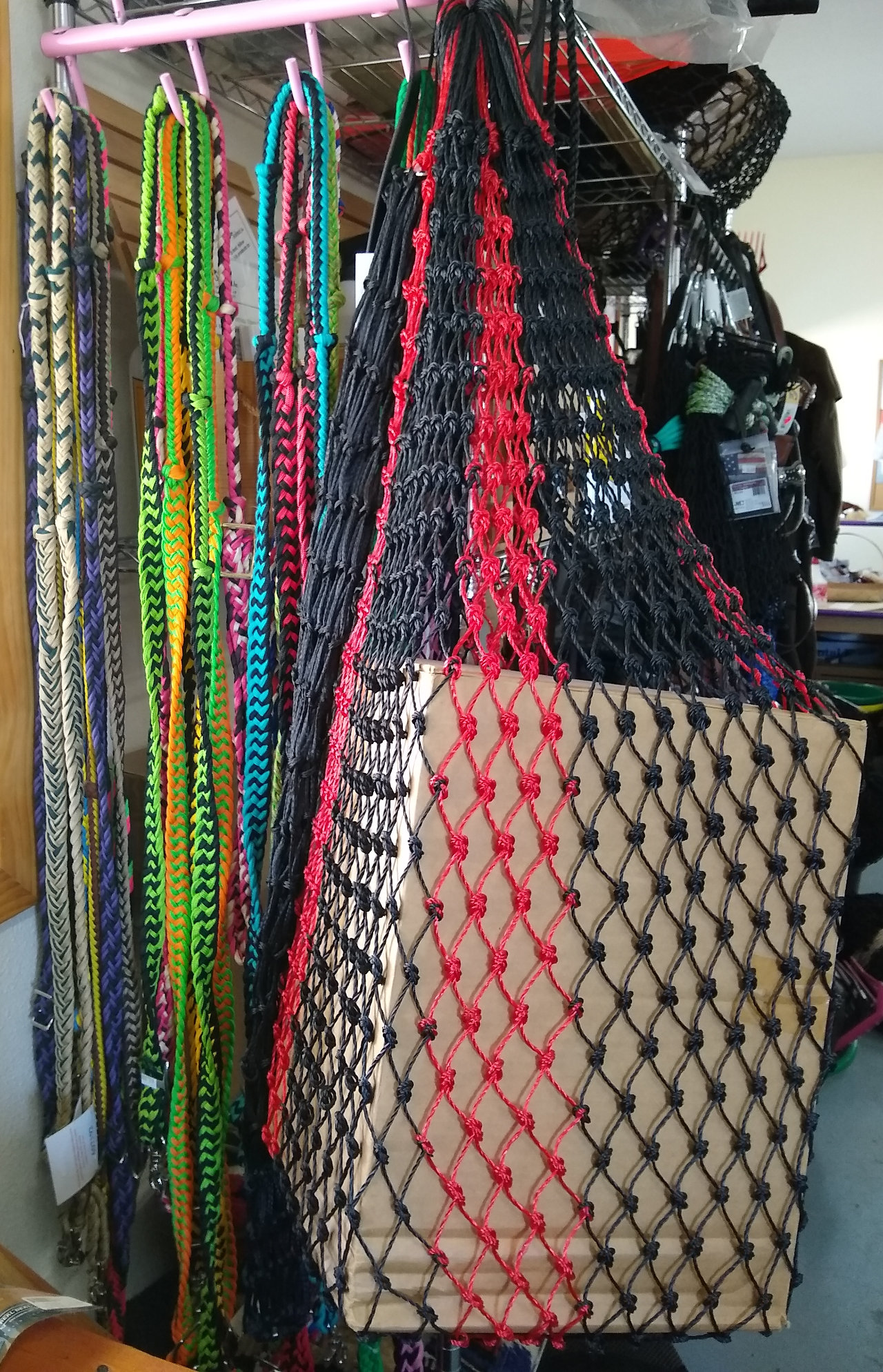 Net bags and lead ropes